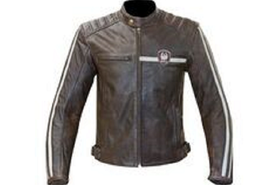 Merlin Bike Gear Giacca moto pelle UOMO Merlin Derrington marrone