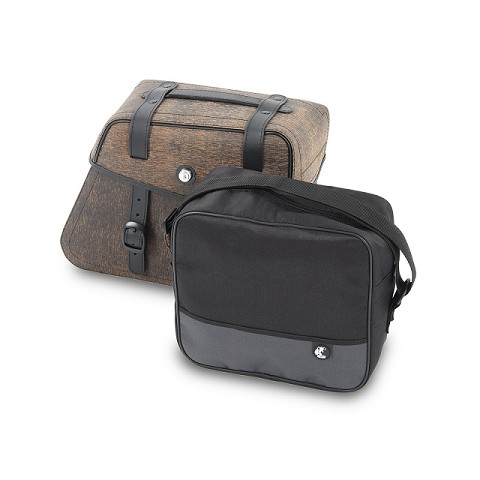 BORSA INTERNA PER VALIE LATERALI IN PELLE RUGGED