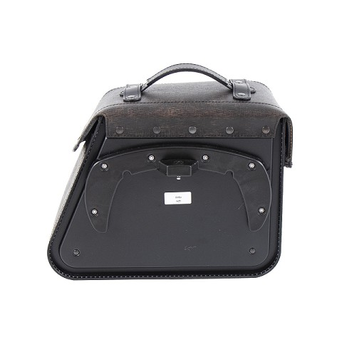 BORSA SINGOLA IN PELLE RUGGED PER PORTA C-BOW MARRONE SINISTRA