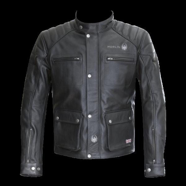 modello per motociclisti Gilet da moto in pelle nera